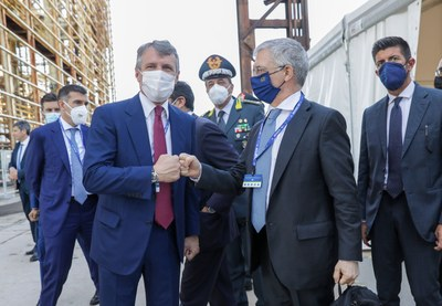 Alessandro Spada, Presidente di Assolombarda con Daniele Franco, Ministro dell'Economia e delle Finanze