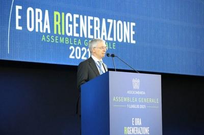 Il Ministro dell'economia e delle finanze, Daniele Franco, all'Assemblea Generale 2021