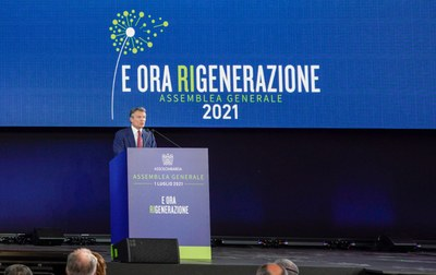 Il Presidente Alessandro Spada all'Assemblea Generale 2021
