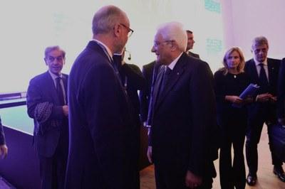 Gianfelice Rocca e il Presidente della Repubblica