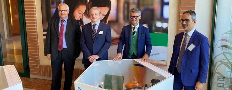 Il Presidente della sede di Monza e Brianza, Gianni Caimi in visita alla BASF di Cesano Maderno