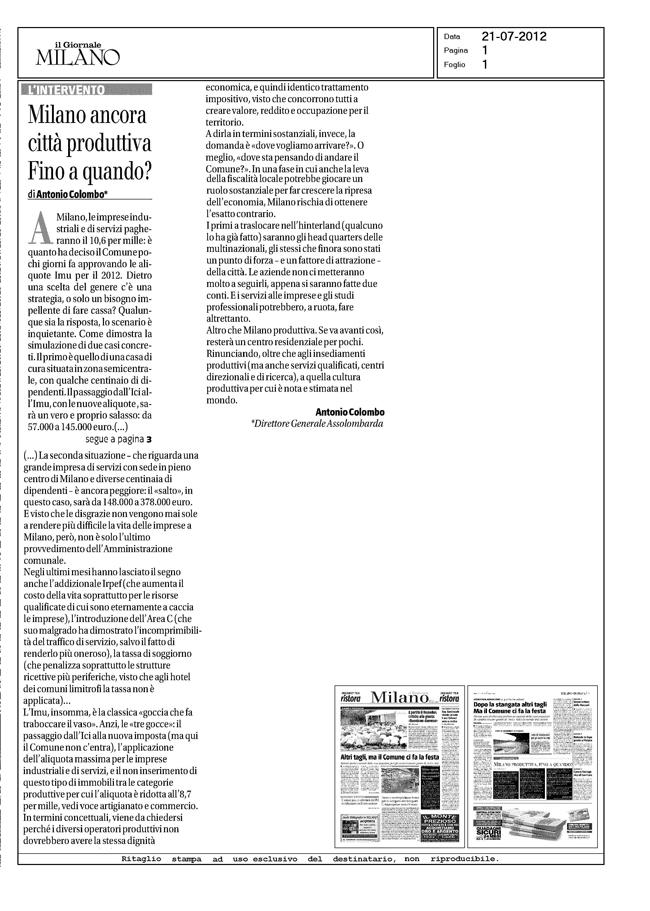 20120721 AntonioColombo - Giornale