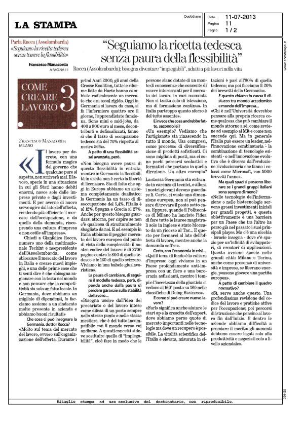 20130711 Gianfelice Rocca 1 - La Stampa