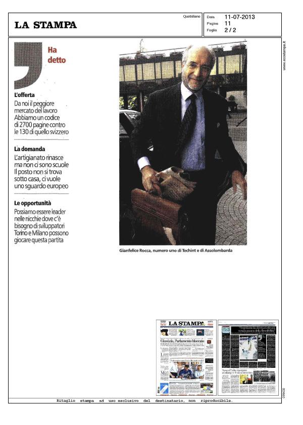 20130711 Gianfelice Rocca 2 - La Stampa
