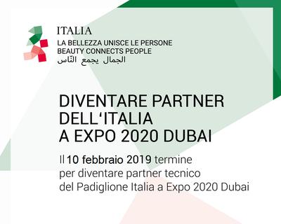 Expo 2020 Dubai: posticipata al 10 febbraio la deadline per diventare Partner Tecnico del Padiglione Italia